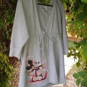 Disney Store Mickey Mouse hooded mid sleeve shirt